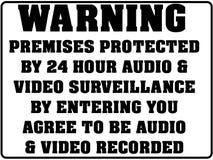 Sinal de aviso para a gravação de vídeo audio ilustração do vetor