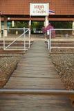 Sinal de aviso Railway Foto de Stock