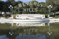 Sinal de Beverly Hills Fotos de Stock Royalty Free