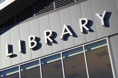Sinal de biblioteca Imagem de Stock