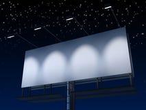 Sinal de Blanck na noite Imagem de Stock Royalty Free