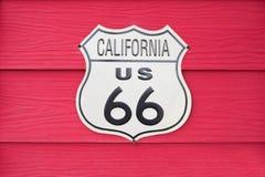 Sinal de Califórnia E.U. Route 66 Foto de Stock