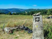 Sinal de Camino de Santiago, Galiza, Espanha Foto de Stock Royalty Free