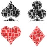 Sinal de cartões do póquer Imagens de Stock Royalty Free