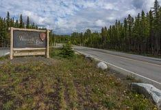 Sinal de cobre da entrada do centro, Wrangell-St Elias foto de stock royalty free