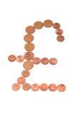 Sinal de cobre da libra Fotos de Stock Royalty Free