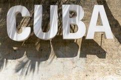Sinal de Cuba Fotografia de Stock