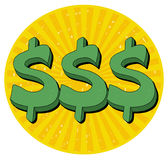 Sinal de dólar 3 Fotografia de Stock Royalty Free