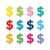 Sinal de dólar Ilustração Stock