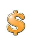 Sinal de dólar Imagem de Stock Royalty Free
