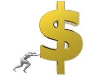 Sinal de dólar Fotografia de Stock Royalty Free