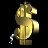 Sinal de dólar Fotos de Stock Royalty Free