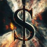 Sinal de dólar abstrato Fotos de Stock Royalty Free