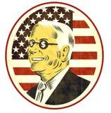 Sinal de dólar americano da bandeira do homem de negócios Fotografia de Stock