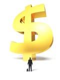 Sinal de dólar crescente Imagem de Stock