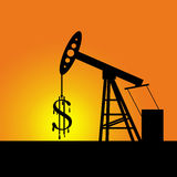 Sinal de dólar da bomba de petróleo Imagem de Stock