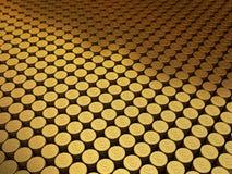 Sinal de dólar das moedas de ouro Fotografia de Stock Royalty Free