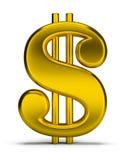 Sinal de dólar do ouro Imagem de Stock