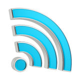 sinal de 3D WiFi Foto de Stock