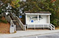 Sinal de Dare County da boa vinda de North Carolina EUA Imagens de Stock