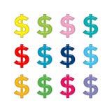 Sinal de dólar Foto de Stock