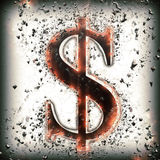 Sinal de dólar abstrato Foto de Stock Royalty Free
