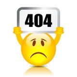 sinal de 404 erros Imagem de Stock