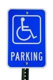 Sinal de estacionamento incapacitado Foto de Stock Royalty Free