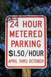 Sinal de estacionamento medido Imagens de Stock Royalty Free