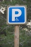 Sinal de estacionamento tido desvantagens foto de stock royalty free