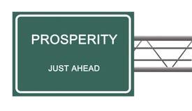 Sinal de estrada à prosperidade fotografia de stock royalty free