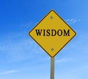Sinal de estrada à sabedoria Imagens de Stock