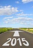 Sinal 2015 de estrada Foto de Stock Royalty Free