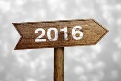 Sinal 2016 de estrada Foto de Stock