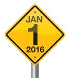 Sinal 2016 de estrada ilustração royalty free