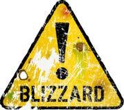 Sinal de estrada de advertência do blizzard, ilustração do vetor, ilustração royalty free