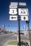 Sinal de estrada americano Imagem de Stock Royalty Free