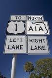 Sinal de estrada americano Imagens de Stock Royalty Free
