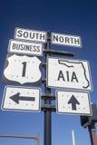 Sinal de estrada americano Imagens de Stock