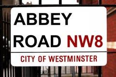 Sinal de estrada da abadia Imagem de Stock Royalty Free