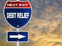 Sinal de estrada da amortização da dívida ilustração stock
