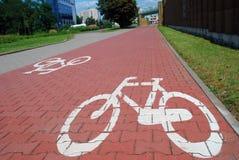 Sinal de estrada da bicicleta Foto de Stock