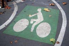 Sinal de estrada da bicicleta fotografia de stock