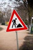 Sinal de estrada da construção Foto de Stock Royalty Free