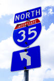 Sinal de estrada da estrada 35 Imagem de Stock