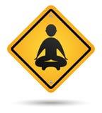 Sinal de estrada da meditação Fotos de Stock