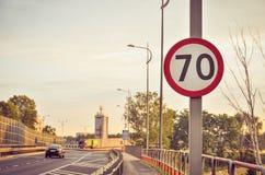 Sinal de estrada da proibição Imagem de Stock