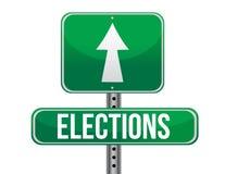 Sinal de estrada das eleições ilustração do vetor