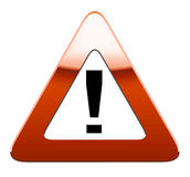 Sinal de estrada de advertência Imagens de Stock