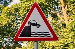 Sinal de estrada de advertência Imagens de Stock Royalty Free